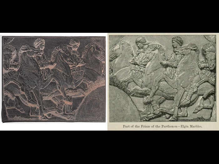 Portion of Panathenaic Frieze, from Second Edition, volume 4, page 293, 1889.