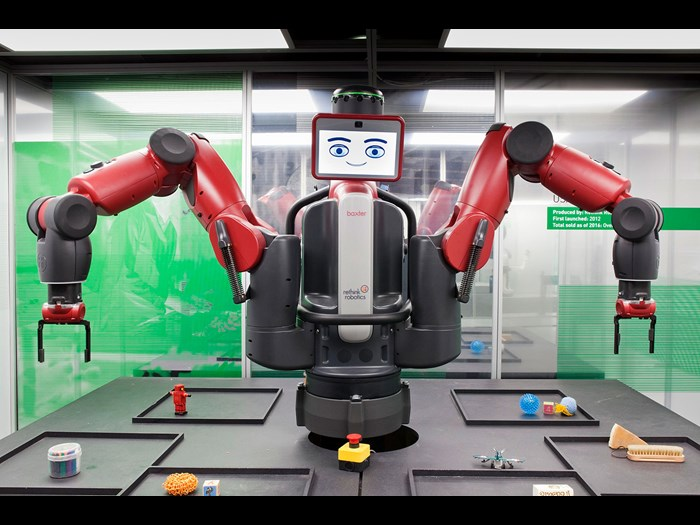 Collaborative robot Baxter, built by ReThink Robots, USA, 2015 © The Board of Trustees of the Science Museum.