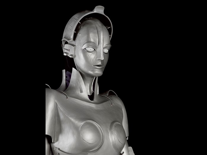 Replica of Maria, designed by Walter Schulze-Mittendorff for Fritz Lang's film Metropolis, 1927. WSM Art – Walter Schulze-Mittendorff © The Board of Trustees of the Science Museum.