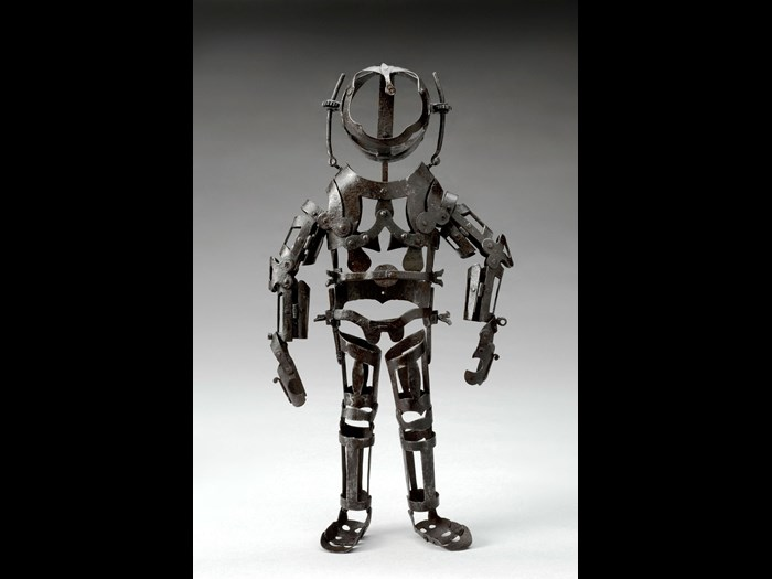 Manikin used to illustrate the articulation of the human body, 1582–1600 © The Board of Trustees of the Science Museum.