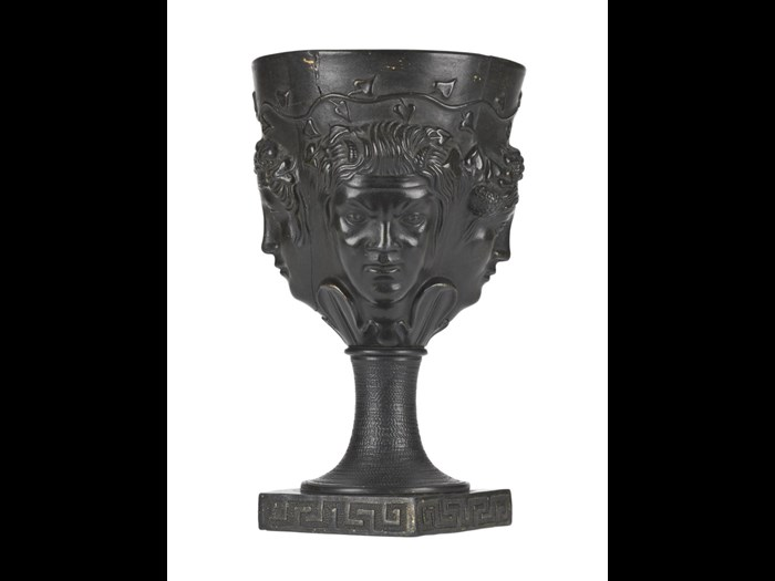Goblet of 'Egyptian black' basalt ware by Delftfield Co, Glasgow - one of the most important pieces of 18th century Scottish pottery.