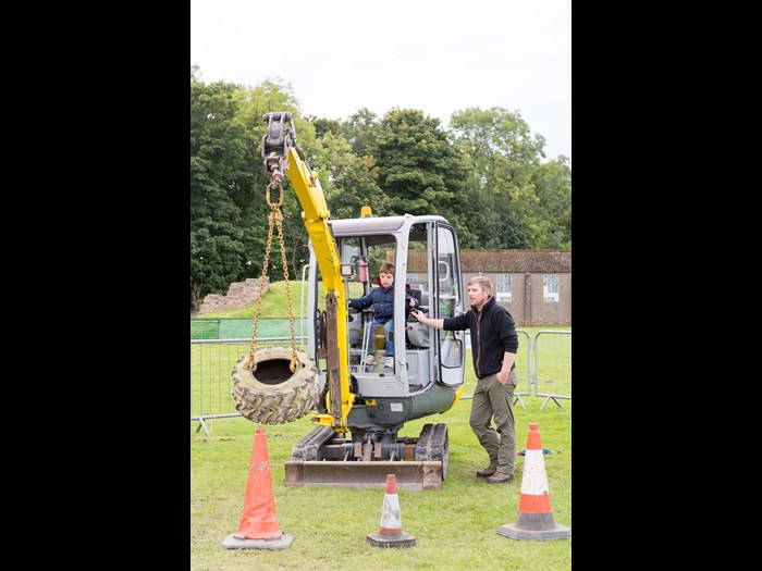 Try out a digger © Ruth Armstrong Photography