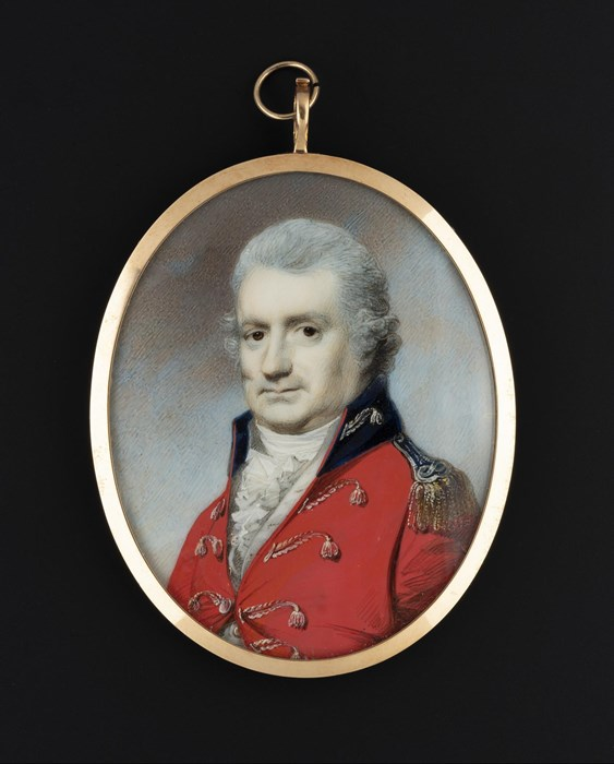 Miniature Painting of Captain Mackay, on display in Gallery 5: In Defence © National Museums Scotland