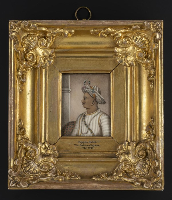 Miniature painting of Tipu Sultan