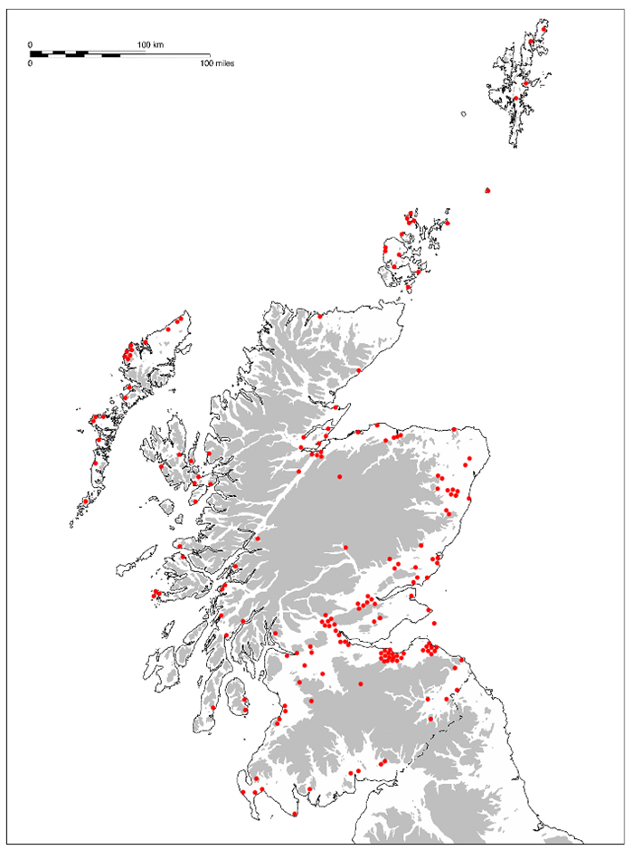 Distribution of analysed Scottish assemblages (2005 – 2018).