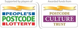 Supported by players of People's Postcode Lottery, awarded funds from Postcode Culture Trust