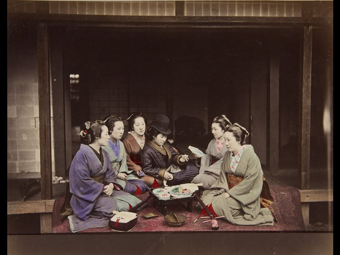 Shuzaburo Usui. [Six Women], 1870s. Courtesy of the Andrew Carnegie Birthplace Museum.