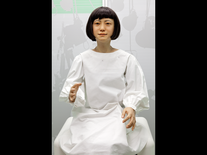 Kodomoroid communication android, Japan, 2014. Image: Hiroshi Ishiguro Laboratories, ATR, Miraikan – The National Museum of Emerging Science and Innovation © The Board of Trustees of the Science Museum.