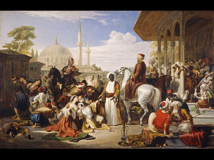 Sir William Allan, The Slave Market, Constantinople © National Galleries of Scotland. Purchased 1980.