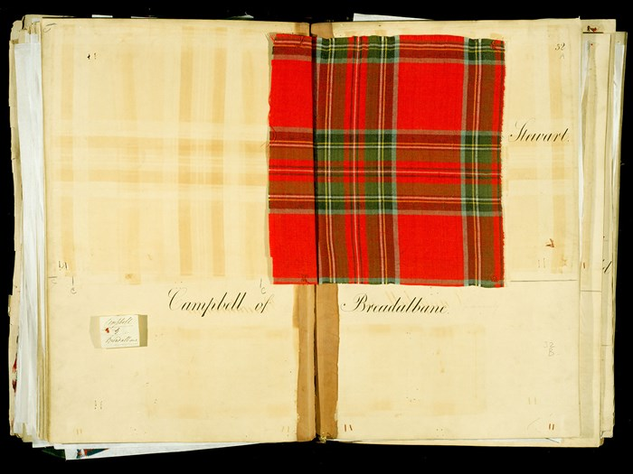 Ledgers of tartan samples formed by the Highland Society of London, c. 1820.