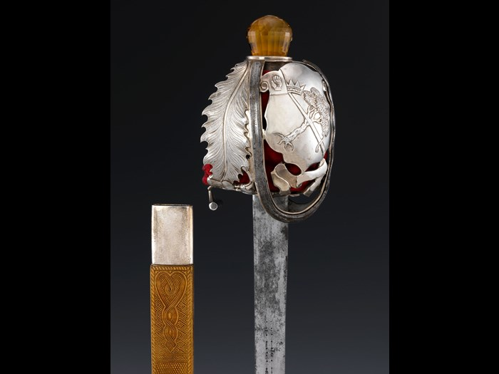 Sword of MacGregor of MacGregor, worn at 1822 visit Scottish, Edinburgh, probably by Marshall and Son, c1822.