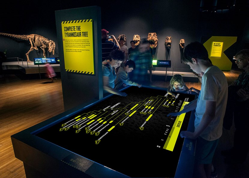Numerous interactives and multimedia experiences designed for all ages to entertain and inform.