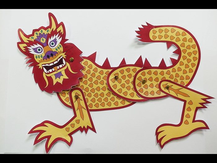 Cut out and create a Chinese parade lion or dragon.