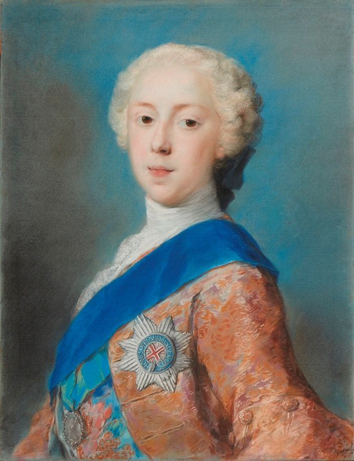 Pastel portrait of Prince Charles Edward Stuart by Rosalba Carriera