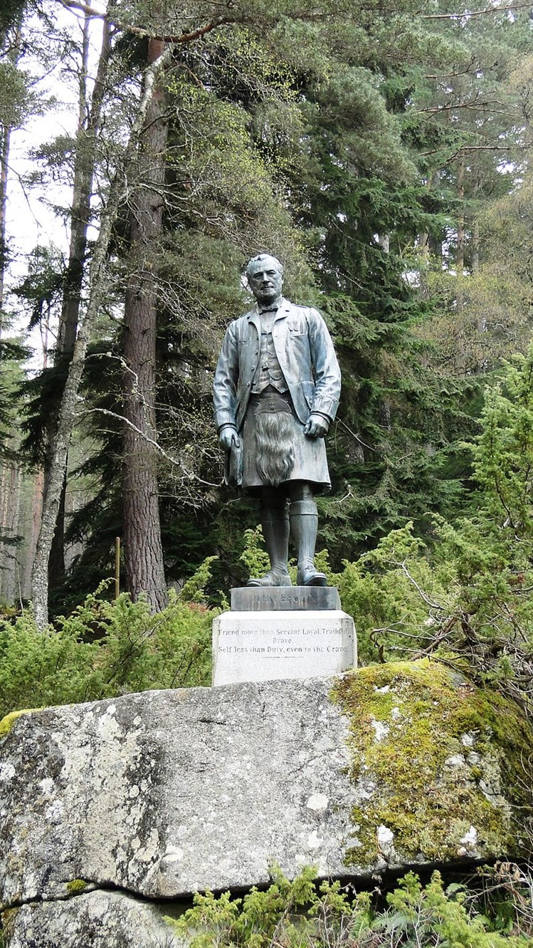 Above: Shortly after his death, Queen Victoria commissioned this statue of Brown from sculptor Edgar Boehm. The inscription read: Friend more than Servant. Loyal. Truthful. Brave. Self less than Duty, even to the Grave. Photo by Drow69 CC BY-SA 3.0.