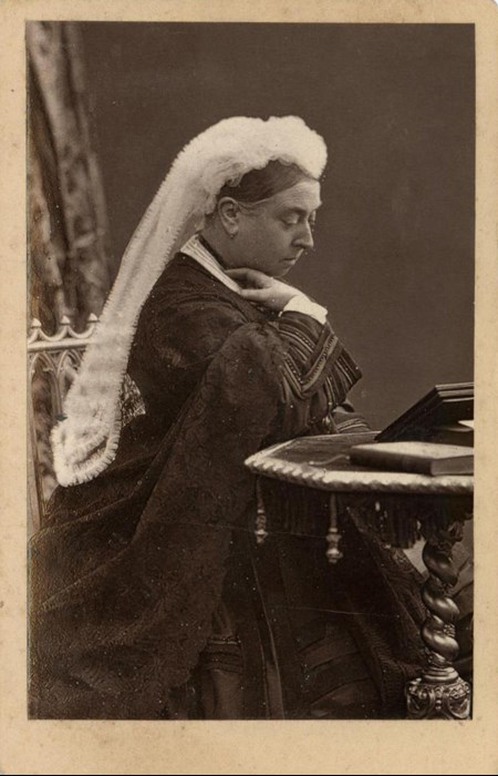 Carte-de-visite depicting Queen Victoria, by W. & D. Downey, London. From the Howarth-Loomes Collection at National Museums Scotland.
