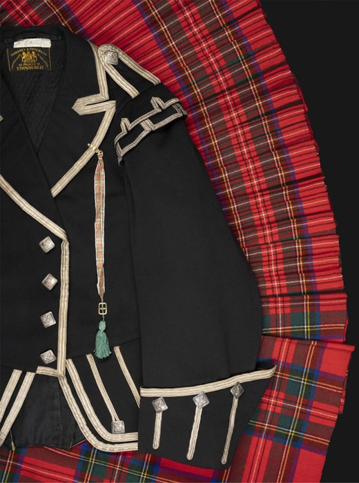 This Highland dress outfit once belonging to John Brown is also on display in the Wild and Majestic exhibition, on loan from the Scottish Tartans Authority.