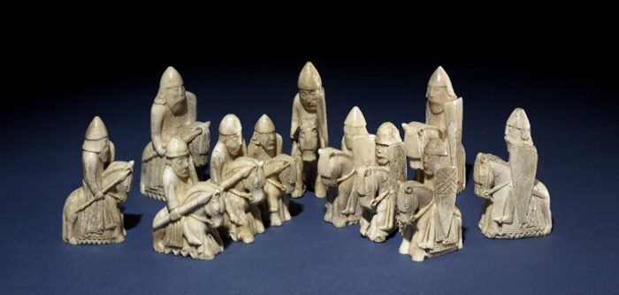 Lewis chess pieces from the British Museum's collection © Trustees of the British Museum CC BY-NC-SA 4.0.