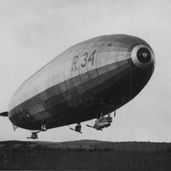Construction of R34 was completed on 20 December 1918 and it was flown to East Fortune in May 1919.