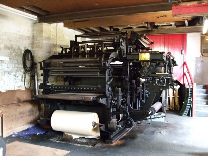 The Cossar press in situ at Philips Printers, Crieff, 2009