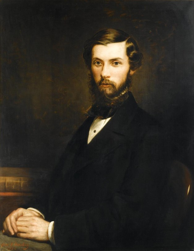 Portrait of Alexander Henry Rhind of Sibster, oil on canvas, by Alexander S. Mackay, 1874