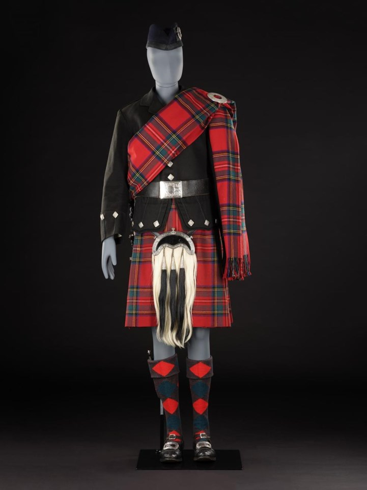 Royal Stewart kilt and plaid outfit