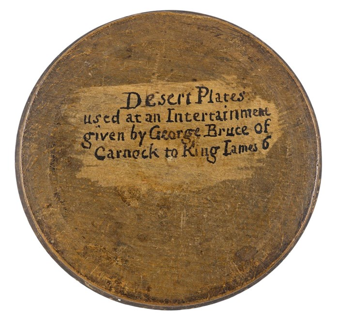 Beechwood box containing desert plates