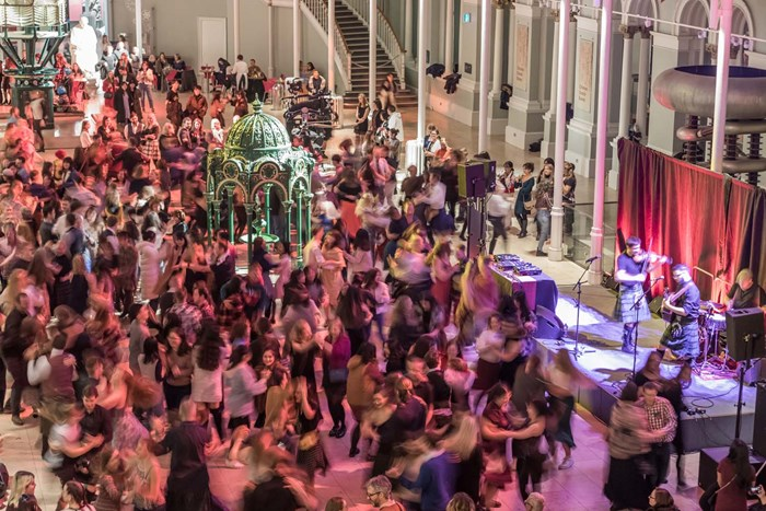 Visitors enjoying a ceilidh at the National Museum of Scotland