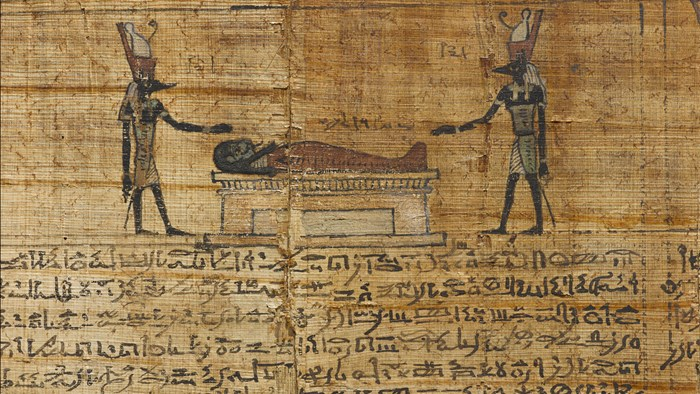 Column 2 of the funerary papyrus of Montsuef, Thebes, Egypt, 9 BC.