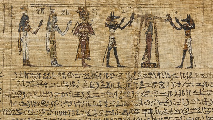 Column 6 of the funerary papyrus of Montsuef, Thebes, Egypt, 9 BC.