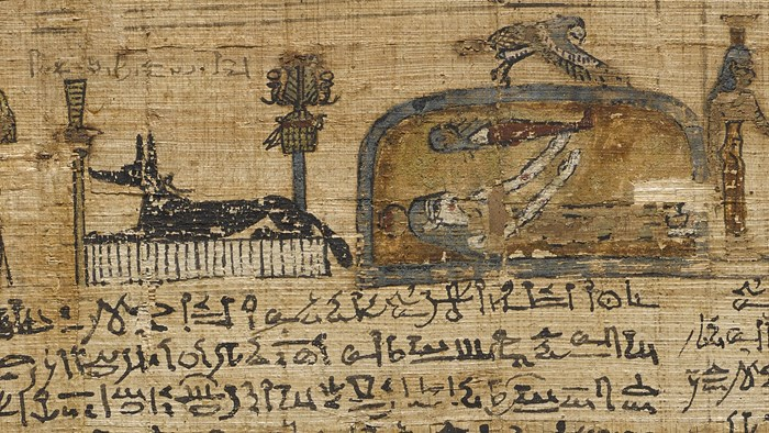 Column 11 of the funerary papyrus of Montsuef, Thebes, Egypt, 9 BC.