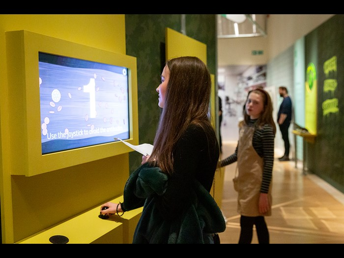 Interactive games in the Parasites exhibition © Ruth Armstrong