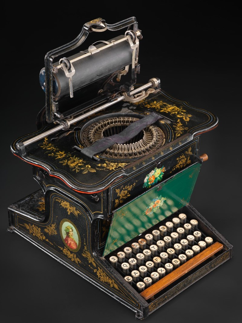 Typewriter, Sholes and Glidden, New York, USA, c. 1875