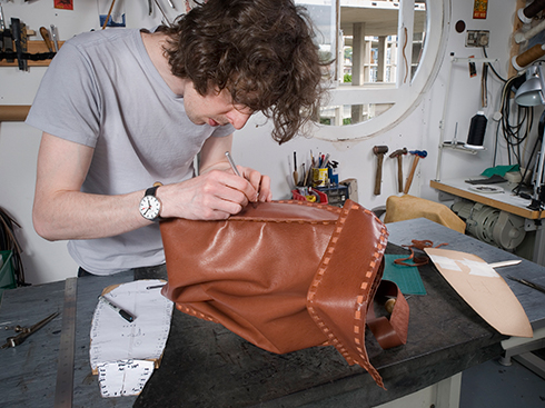Stitching the bag