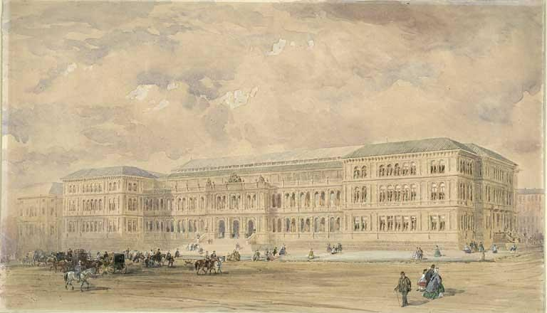 Drawing of the Industrial Museum of Scotland