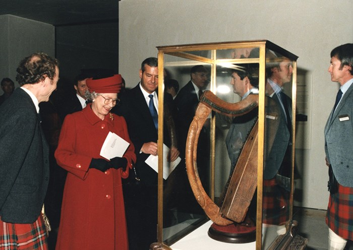 Queen Elizabeth II at the opening of the Museum of Scotland