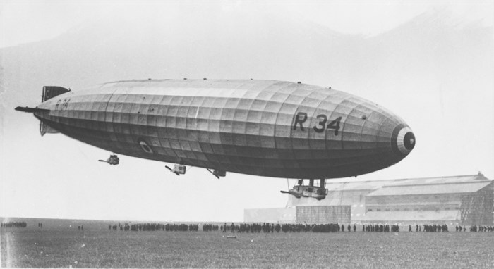 R34 airship at National Museum of Flight