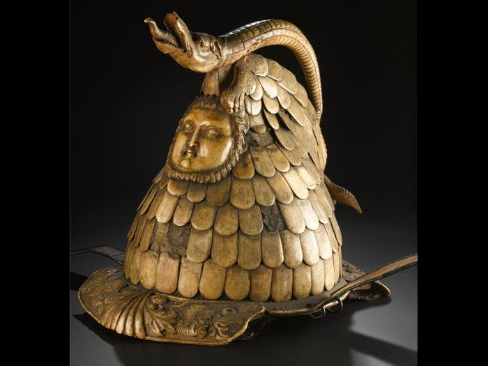 Iron pageant helmet, 18th or early 19th century