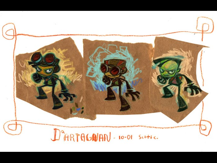 Psychonauts concept artwork, Tim Schafer, 2005. Courtesy of Double Fine Productions.