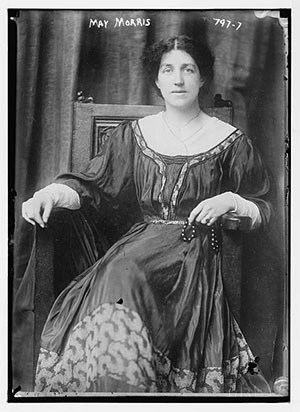 May Morris. Photo from Library of Congress Prints and Photographs Division Washington, D.C.