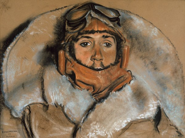 This unidentified pilot was drawn by Eric Kennington, an official war artist who went out to the Western Front in 1917. The pilot flew with the Royal Flying Corps during the First World War. On display in Tools of the Trade at the National War Museum, Edinburgh Castle.