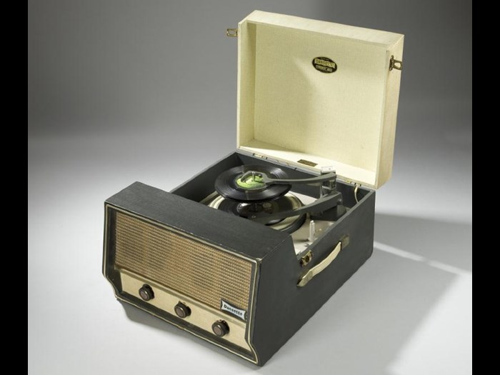 Dansette record player by Dansette Products Ltd, London, c. 1960.