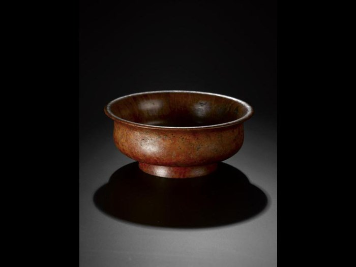 Par-pa (tea bowl) made of wood. Late 19th century. Acquired by Miss Annie Royle, Taylor. A.1897.266.40
