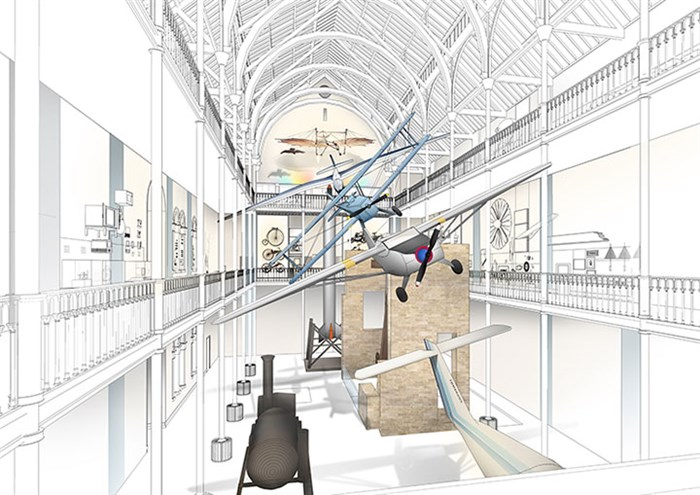 Artist's impression of the new Science and Technology galleries