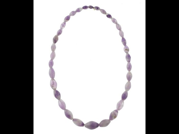 This amethyst necklace is part of our Ancient Egyptian collection. It comes from Abydos and dates from the Middle Kingdom, 11th-13th Dynasty, c.2010-1660 BC.