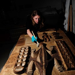 Conserving an Aboriginal carving
