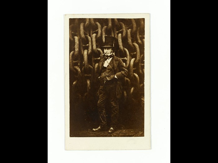 Carte-de-visite of Isambard Kingdom Brunel, photographed by Robert Howlett. From the Howarth-Loomes Collection at National Museums Scotland.