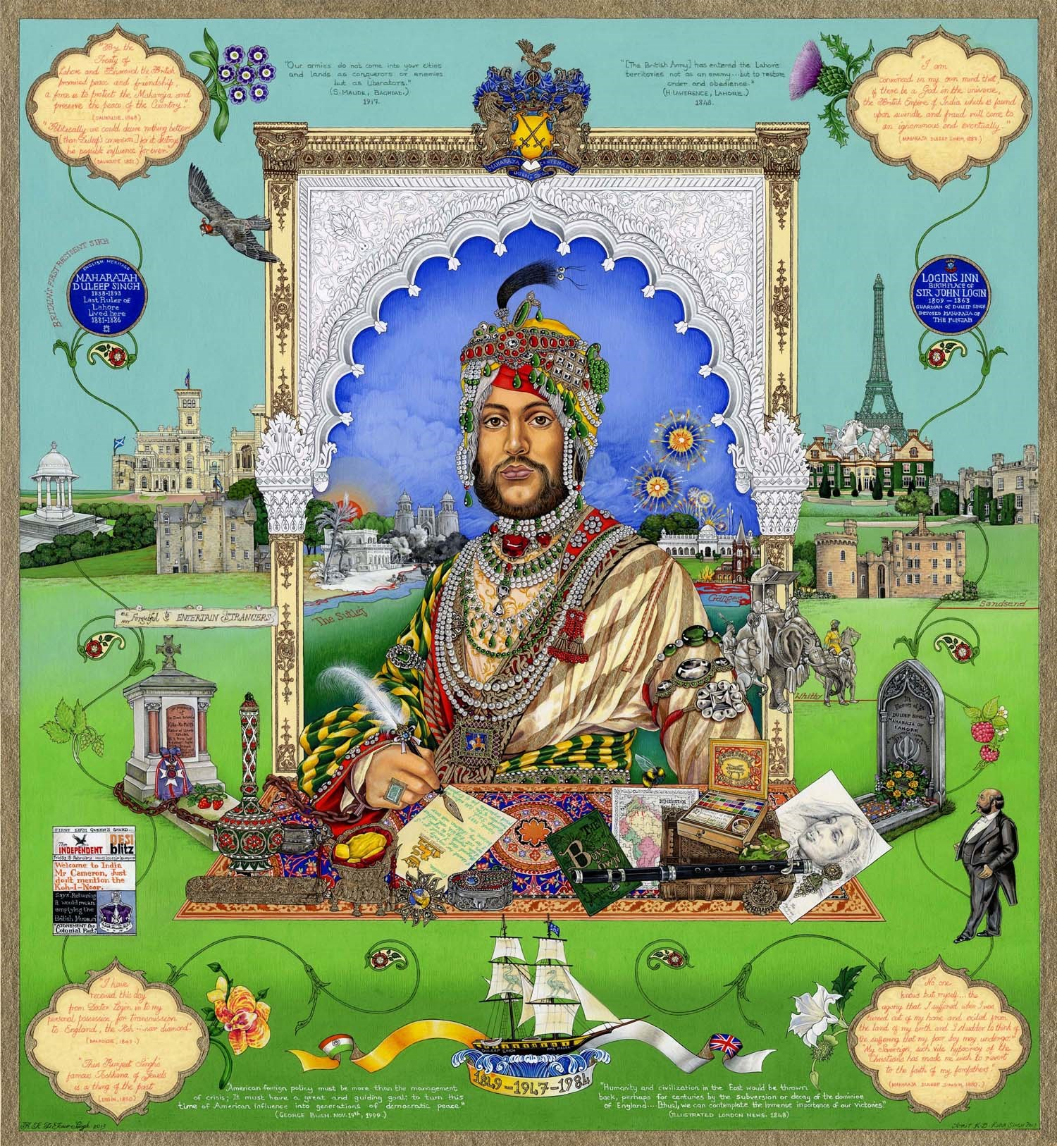 Casualty of War: A Portrait of Maharaja Duleep Singh © The Singh Twins.