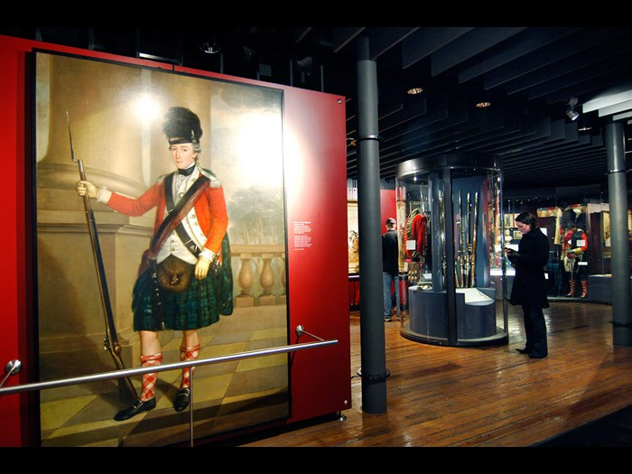 The Highland Soldier gallery in the National War Museum