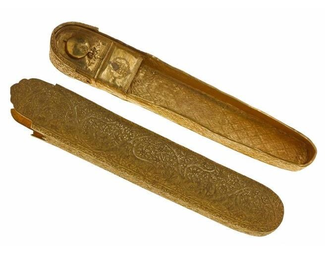 Gold pen case